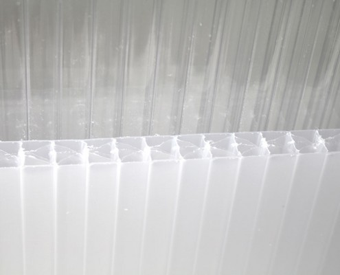 Polycarbonatplatten klar + opal